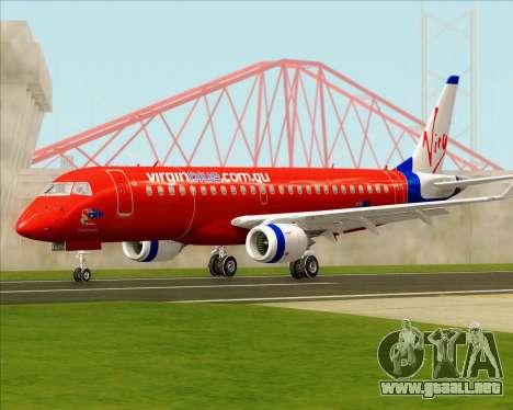 Embraer E-190 Virgin Blue para GTA San Andreas left