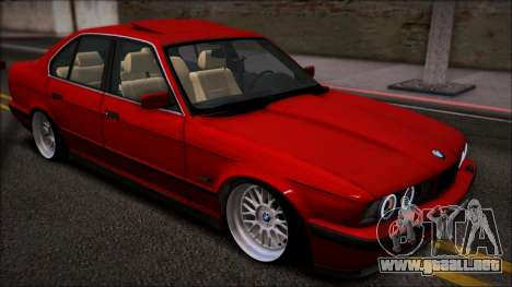BMW 525i E34 para GTA San Andreas vista posterior izquierda
