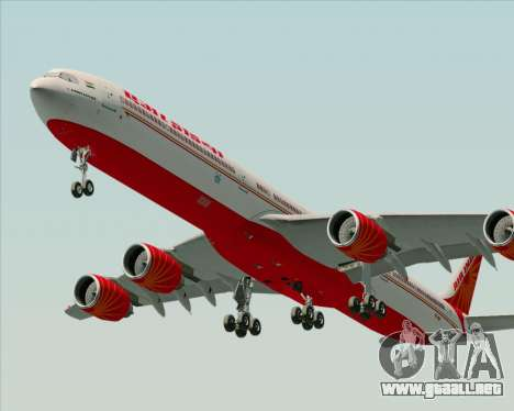Airbus A340-600 Air India para la visión correcta GTA San Andreas