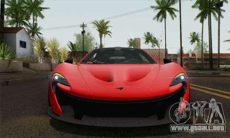 McLaren P1 HQ para GTA San Andreas vista hacia atrás