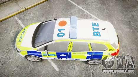Vauxhall Astra Estate Metropolitan Police [ELS] para GTA 4 visión correcta
