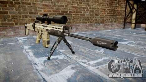 Rifle Mk 17 CICATRIZ-H bípode para GTA 4