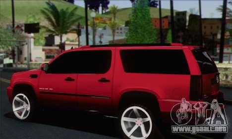 Cadillac Escalade ESV para GTA San Andreas left