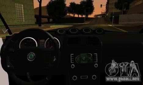 Skoda Fabia RS para GTA San Andreas vista posterior izquierda