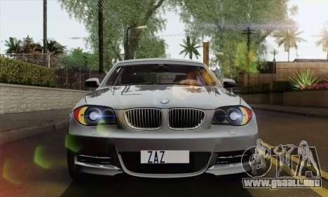 BMW 135i 2009 para la visión correcta GTA San Andreas