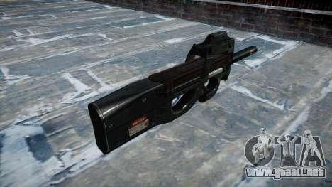 Pistola de Fabrique Nationale P90 para evitar se para GTA 4 segundos de pantalla