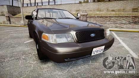 Ford Crown Victoria LASD [ELS] Unmarked para GTA 4