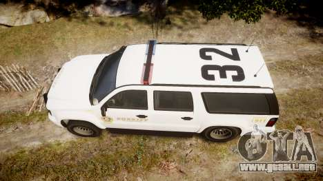 GTA V Declasse Granger LSS White [ELS] para GTA 4 visión correcta