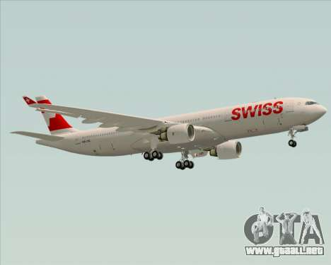 Airbus A330-300X Swiss International Air Lines para la vista superior GTA San Andreas