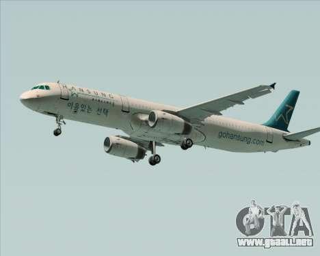 Airbus A321-200 Hansung Airlines para GTA San Andreas left