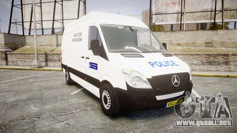 Mercedes-Benz Sprinter 311 cdi London Police para GTA 4