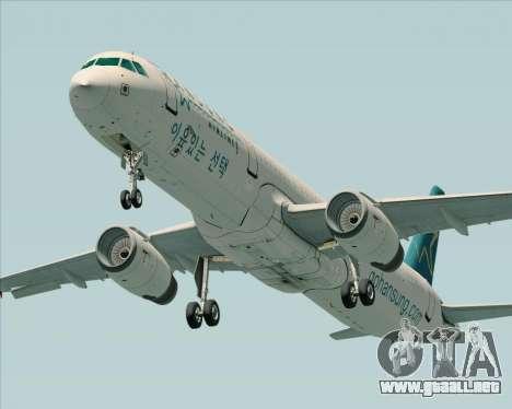 Airbus A321-200 Hansung Airlines para la visión correcta GTA San Andreas
