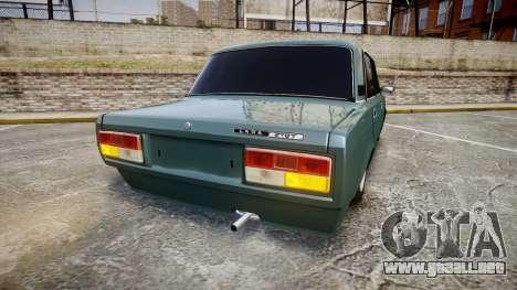 El USO de-2107 hobo para GTA 4 Vista posterior izquierda