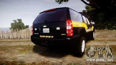 Chevrolet Suburban [ELS] Rims1 para GTA 4 Vista posterior izquierda