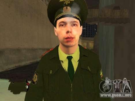 El Teniente Sokolov para GTA San Andreas tercera pantalla
