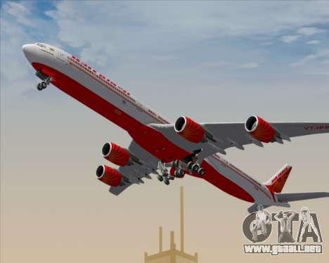 Airbus A340-600 Air India para el motor de GTA San Andreas