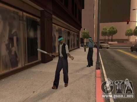 El cambio de las áreas de las pandillas y sus ar para GTA San Andreas tercera pantalla