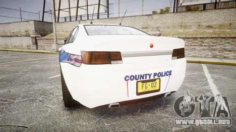 GTA V Cheval Fugitive LS Liberty Police [ELS] Sl para GTA 4 Vista posterior izquierda