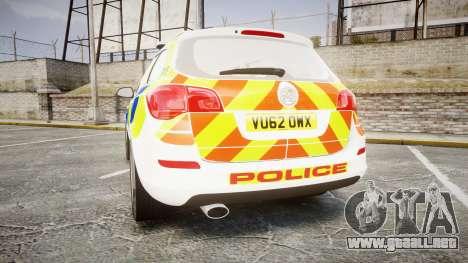 Vauxhall Astra Estate Metropolitan Police [ELS] para GTA 4 Vista posterior izquierda
