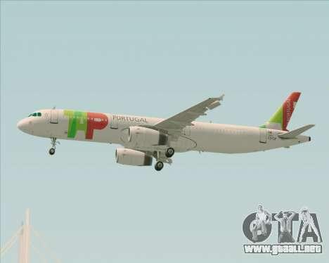 Airbus A321-200 TAP Portugal para la vista superior GTA San Andreas