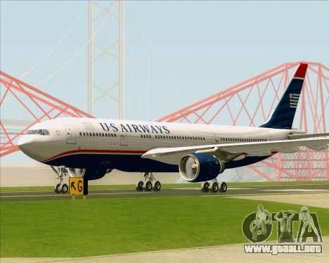 Airbus A330-200 US Airways para la vista superior GTA San Andreas