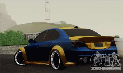 BMW M5 E60 Lumma para GTA San Andreas left