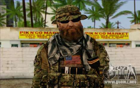 Dusty MOHW from Medal Of Honor Warfighter para GTA San Andreas tercera pantalla