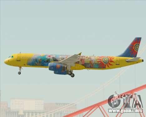 Airbus A321-200 para la visión correcta GTA San Andreas