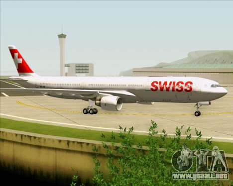 Airbus A330-300X Swiss International Air Lines para vista lateral GTA San Andreas