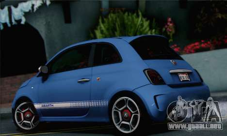 Fiat 500 Abarth 2008 para GTA San Andreas left