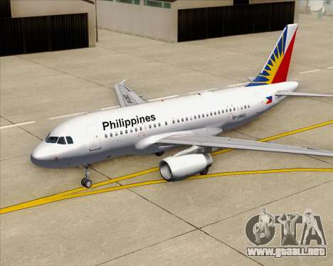 Airbus A319-112 Philippine Airlines para el motor de GTA San Andreas