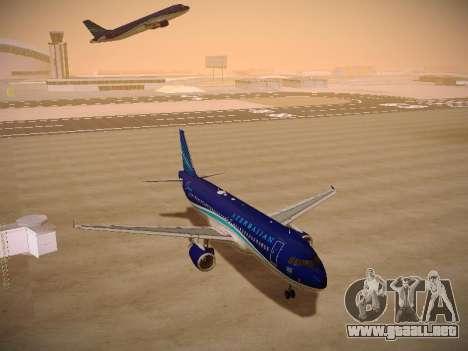Airbus A320-214 Azerbaijan Airlines AZAL para GTA San Andreas vista hacia atrás