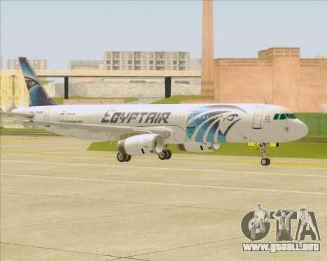 Airbus A321-200 EgyptAir para la vista superior GTA San Andreas