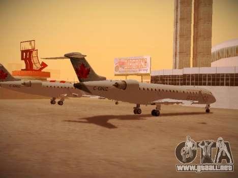 Bombardier CRJ-700 Air Canada Express para GTA San Andreas vista hacia atrás