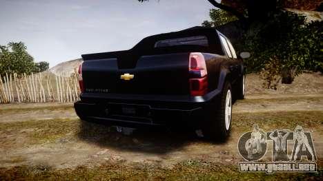 Chevrolet Avalanche 2008 Undercover [ELS] para GTA 4 Vista posterior izquierda