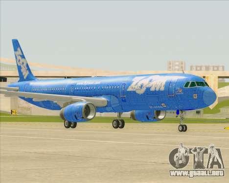 Airbus A321-200 Zoom Airlines para visión interna GTA San Andreas