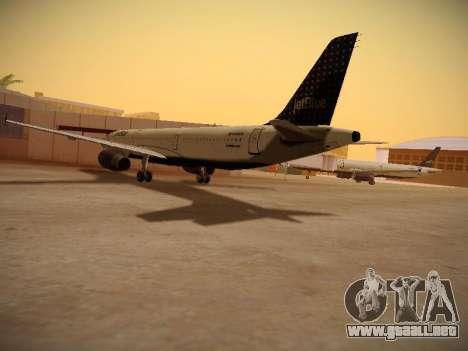 Airbus A321-232 jetBlue Woo-Hoo jetBlue para la visión correcta GTA San Andreas