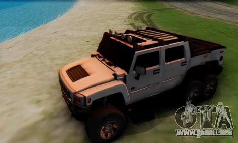 Hummer H6 Sut Pickup para vista lateral GTA San Andreas