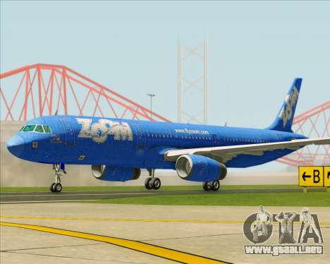 Airbus A321-200 Zoom Airlines para GTA San Andreas left