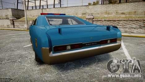 Imponte Dukes Police para GTA 4 Vista posterior izquierda