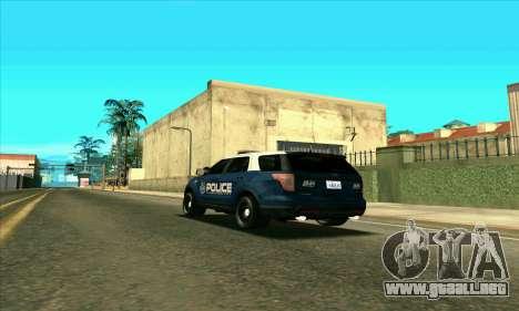 FCPD Ford Explorer 2013 para GTA San Andreas left