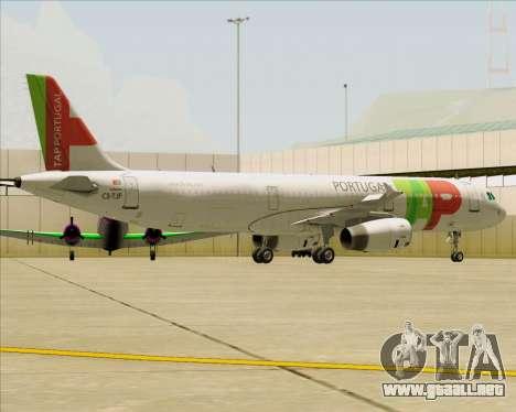 Airbus A321-200 TAP Portugal para las ruedas de GTA San Andreas