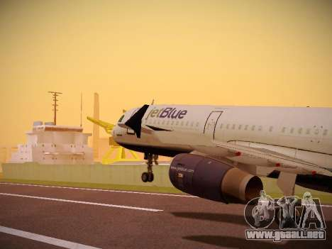 Airbus A321-232 Big Blue Bus para GTA San Andreas