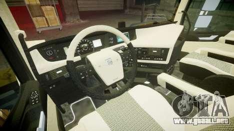 Volvo FH16 para GTA 4 vista hacia atrás