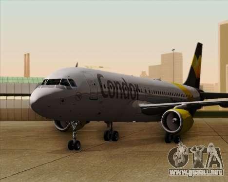 Airbus A320-212 Condor para vista inferior GTA San Andreas