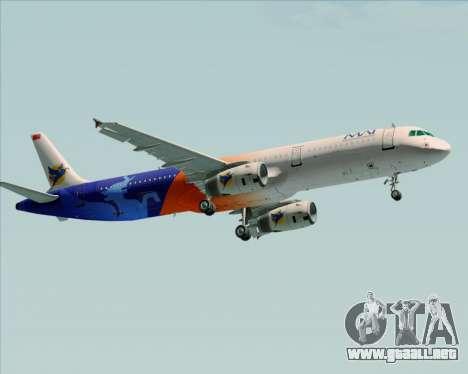 Airbus A321-200 Myanmar Airways International para GTA San Andreas vista posterior izquierda