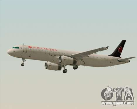 Airbus A321-200 Air Canada para GTA San Andreas vista hacia atrás