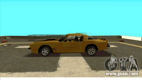 Chevrolet Camaro Z28 Bumblebee para GTA San Andreas vista hacia atrás