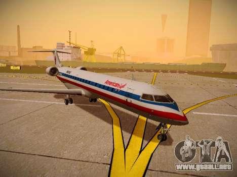 Bombardier CRJ-700 American Eagle para GTA San Andreas vista posterior izquierda
