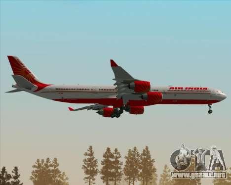 Airbus A340-600 Air India para la vista superior GTA San Andreas